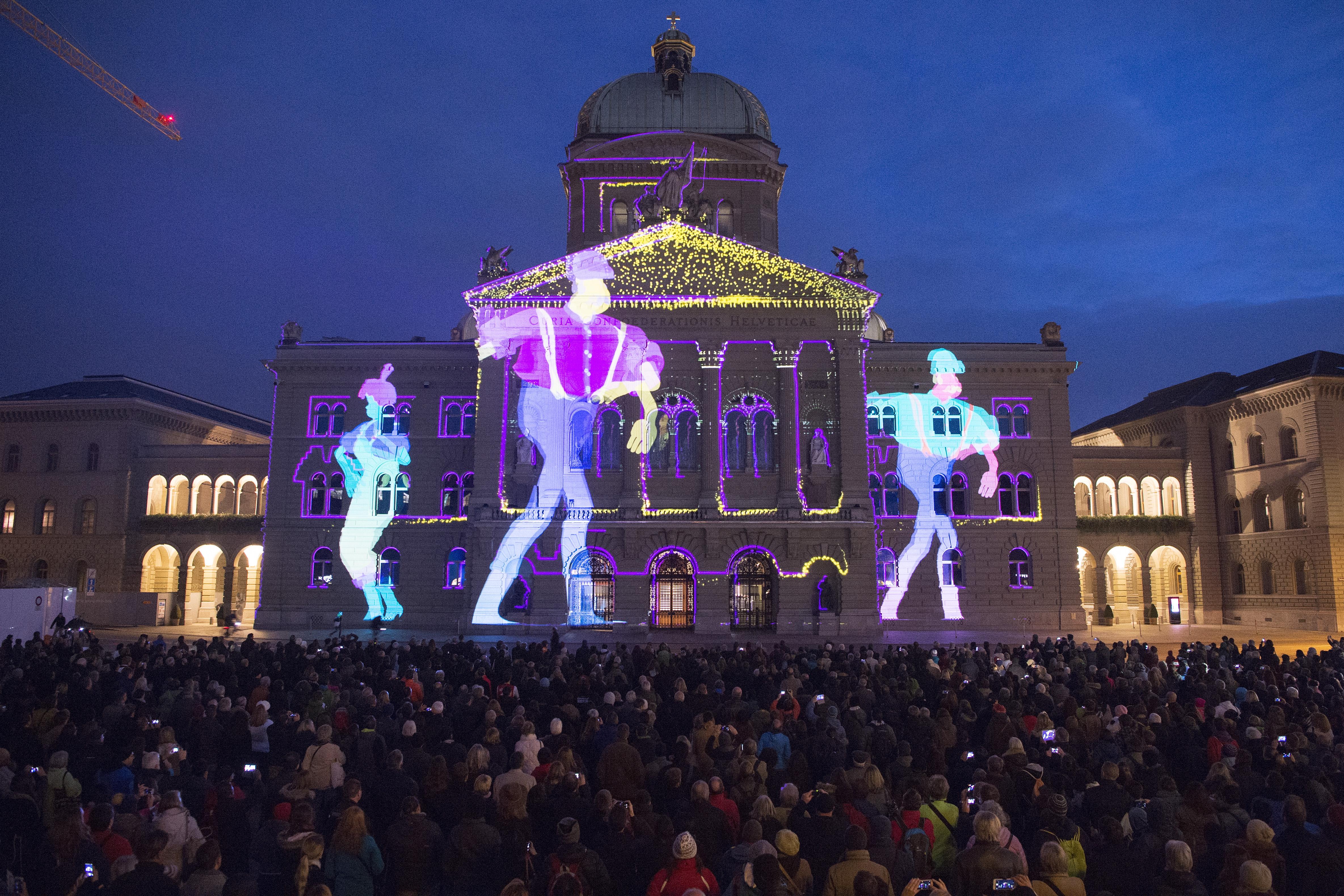 Bundeshaus Beleuchtung 2016 | Great Bundeshaus Beleuchtung 2016 Pictures Lichtshow Bundeshaus